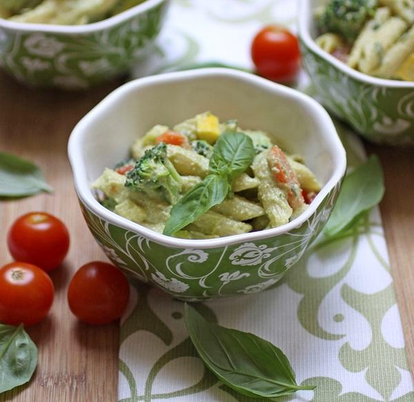 Creamy Vegan Pasta Primavera