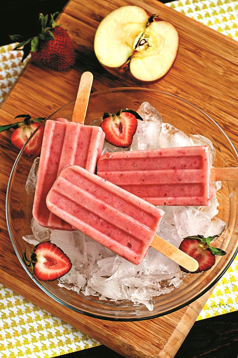 Strawberry Yogurt Smoothie Pops Recipe Dairy Free