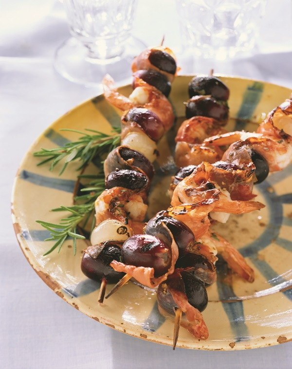 Grilled California-Style Antipasto Skewers