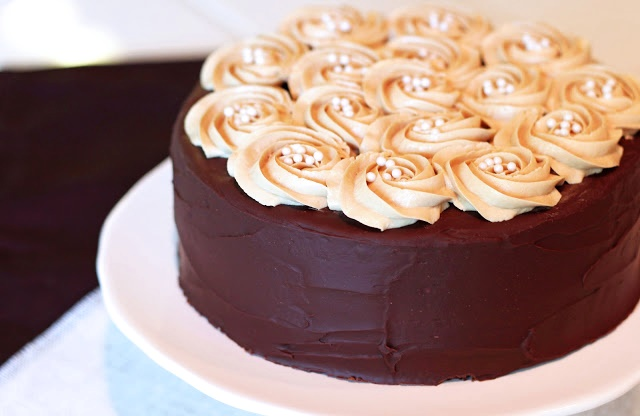 Mocha Layer Cake with Coffee Buttercream (Vegan, Dairy-Free, Gluten-Free Recipe!)