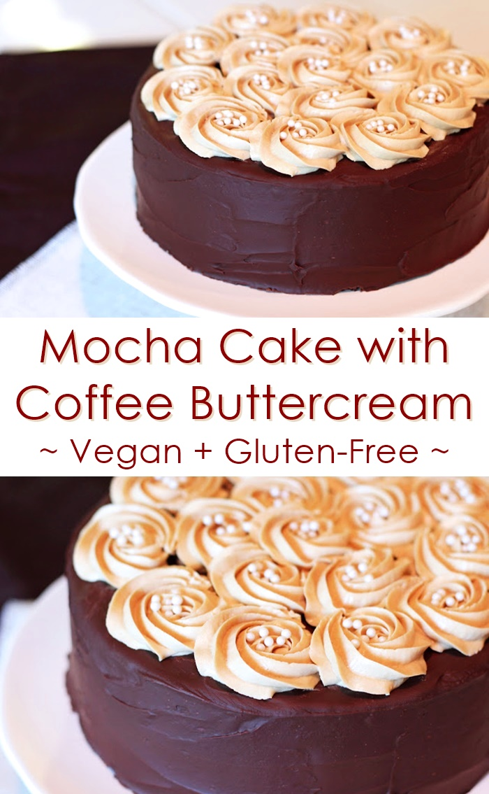 Mocha Cake with Coffee Buttercream (Vegan, Dairy-Free, Gluten-Free ...