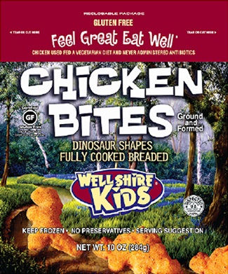 Wellshire Kids Dairy Free Gluten Free Chicken Nuggets Dinosaur Bites