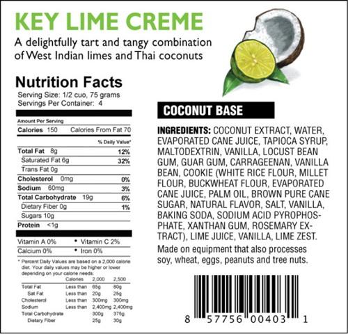 DF Mavens Dairy-Free Frozen Dessert Key Lime Creme