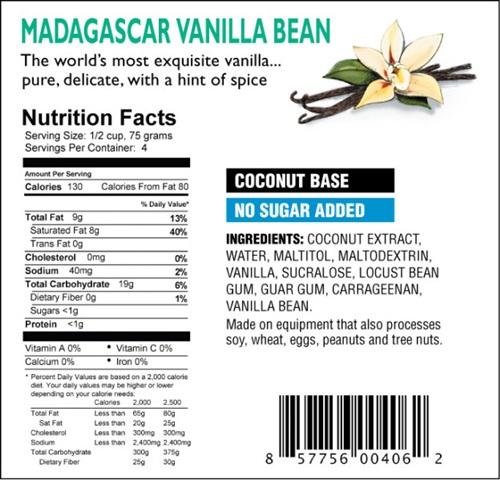 DF Mavens Dairy-Free Frozen Dessert Madagascar Vanilla Bean