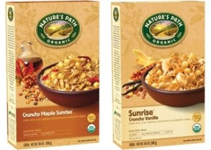 Natures Path Crunchy Sunrise Cereals - Maple and Vanilla