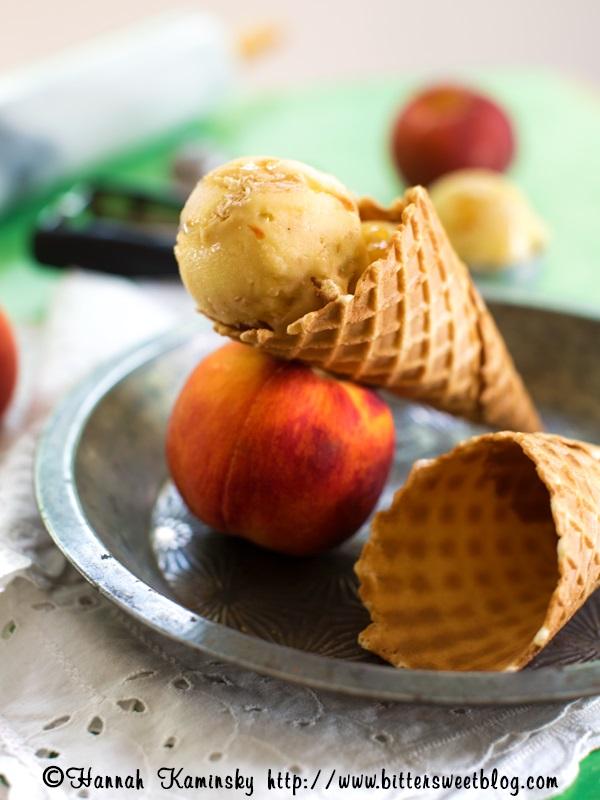 Peach Pie Ice Cream - Vegan, Dairy-Free, Gltuen-Free, Soy-Free