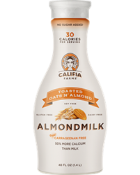 Califia Farms Almondmilk Reviews and Information - dairy-free, gluten-free, soy-free, and vegan. Various flavors ... Pictured: Toasted Oats