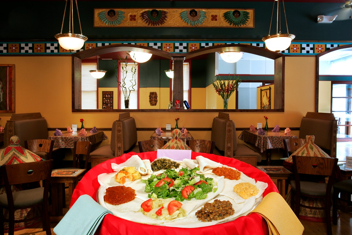 The Blue Nile is a popular Ethiopian restaurant in Ann Arbor, MI with great dairy-free and vegetarian options