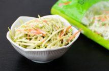 Honey Mustard Broccoli Slaw Recipe - naturally dairy-free, gluten-free, easy, and delicious. Vegan option.