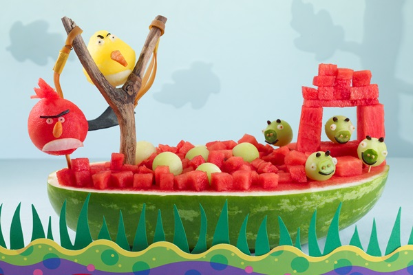 Dairy-Free Watermelon Recipes - Angry Birds