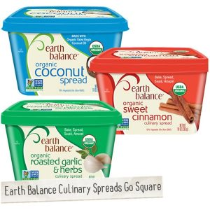 Earth Balance Organic Culinary Spreads - New Square Packaging Launched in 2014 (but product inside is still the same formulas!)