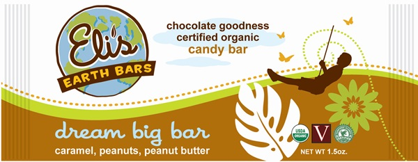 Elis Earth Bars - Vegan Organic Candy Bars - Dream Big