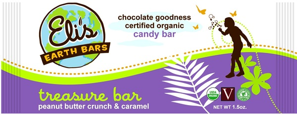Elis Earth Bars - Vegan Organic Candy Bars - Treasure