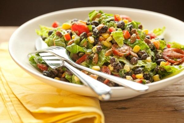 Healthy Black Bean Salad with Creamy Avocado Dressing - Go Dairy Free