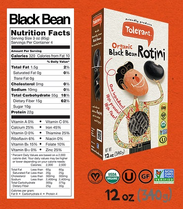 New Allergy-Friendly Foods - Tolerant Foods Bean Pasta