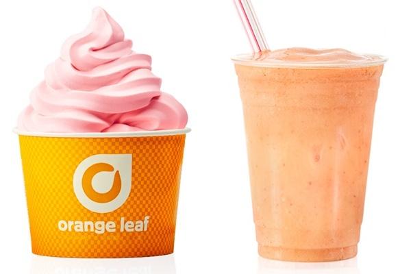 Orange Leaf Frozen Yogurt - Dairy-Free Dole and Smoothies