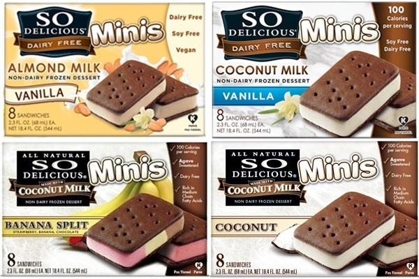 So Delicious Dairy-Free Ice Cream Sandwiches Review - Go ... Almond Dream