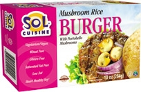 Vegan Burgers - Sol Cuisine Mushrooom Rice