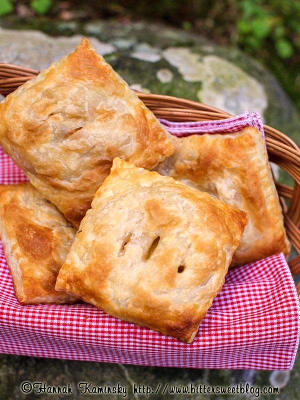 Vegan Savory Hand Pies - Peach Tomato and Corn