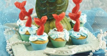 Mermaid Cupcakes - a fun how-to with tips + recommended dairy-free frosting and cupcake recipes