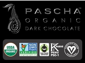 Chocolate Bar Giveaway - Pascha Chocolate Certifications with Logo
