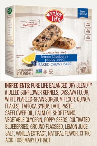 Enjoy Life Chewy Bars Ingredients