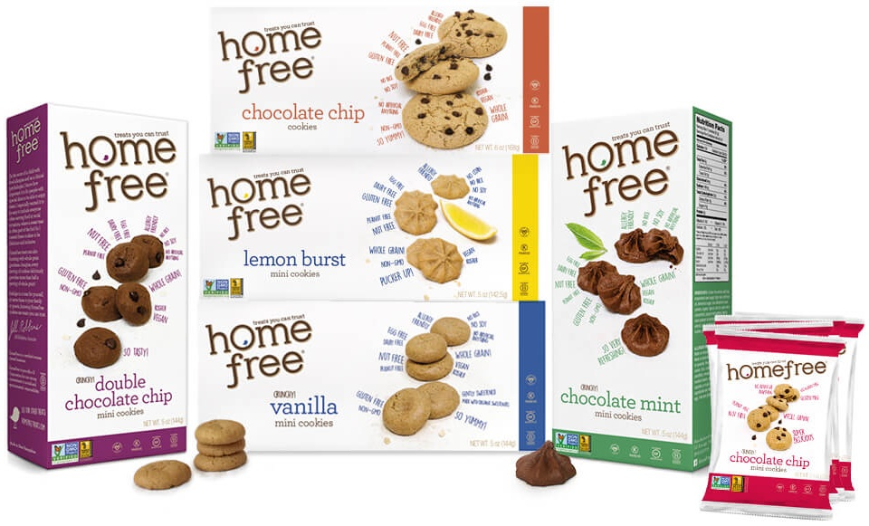 HomeFree Cookies - Allergy-Friendly Crunchy Cookies (whole grain, vegan, gluten-free and nut-free)