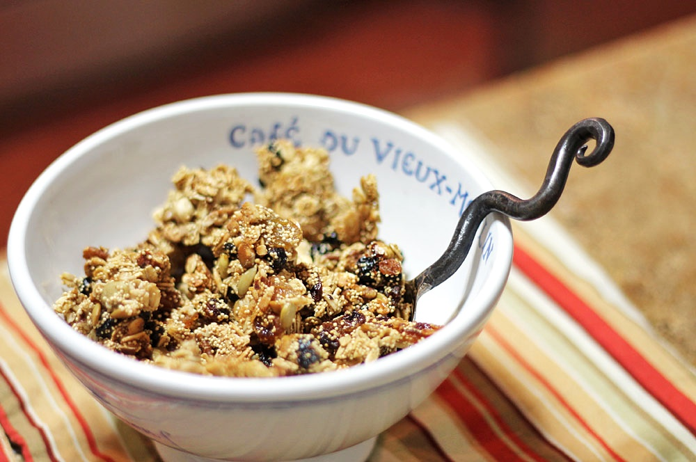 Healthy Maple Multi-Grain Granola with Amaranth