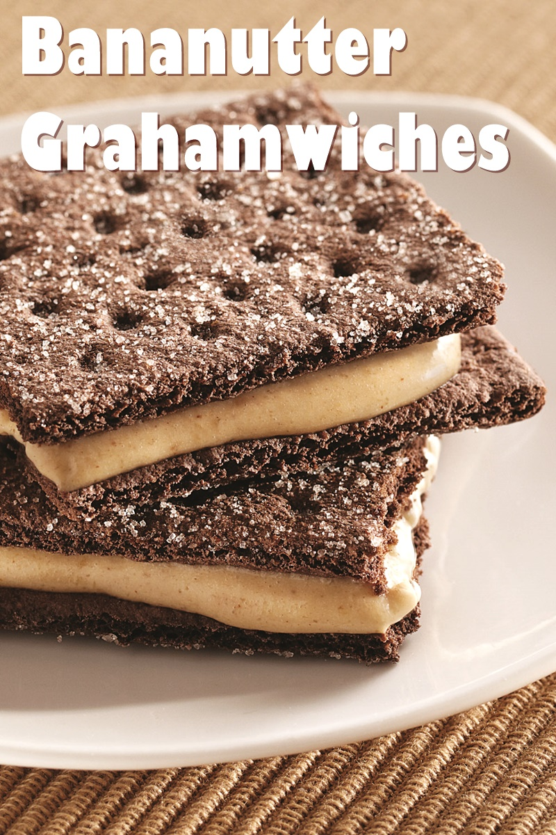 Bananutter Grahamwich Snacks - a speedy, 4 ingredient, dairy-free treat straight from the freezer