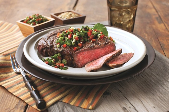 Grilled Steaks with Chimichurri Salsa Recipe - naturally dairy-free, gluten-free, nut-free, soy-free, paleo, and allergy-friendly