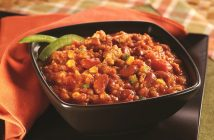 Quick Mexican-Style Pumpkin Chili Recipe (dairy-free, gluten-free and allergy-friendly - vegan options included)