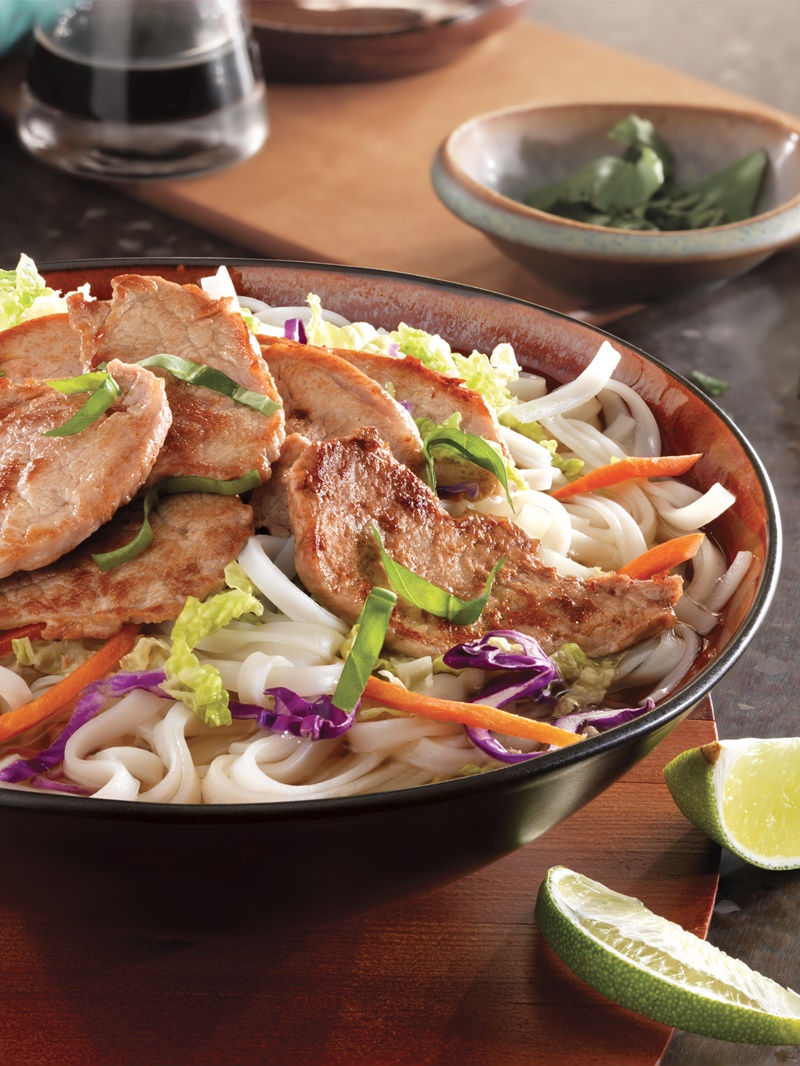 Vietnamese Noodle Bowl - a fast, flavorful pork recipe for an easy dairy-free, gluten-free meal.