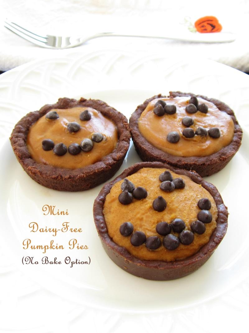 Dairy-Free No Bake Mini Pumpkin Pies Recipe