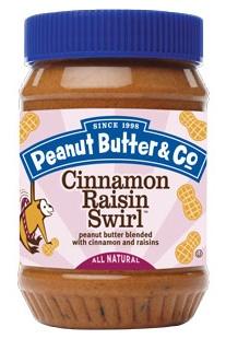 Peanut Butter and Co Cinnamon Raisin Swirl Flavored Peanut Butter