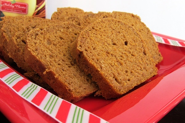 Gluten-Free Pumpkin Nog Bread (Also Vegan and Top 8-Free)