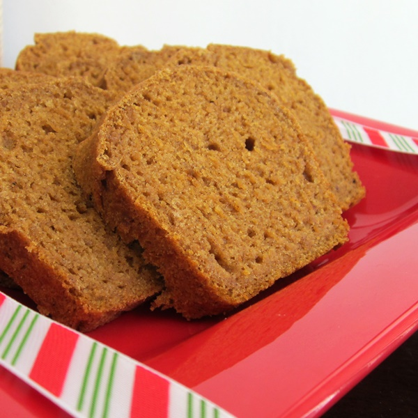 Gluten-Free Pumpkin Nog Bread (Also Vegan and Top 8-Free)