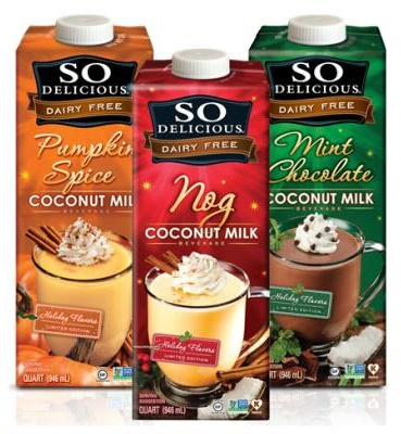 So Delicious Dairy Free Nog and Holiday Beverages