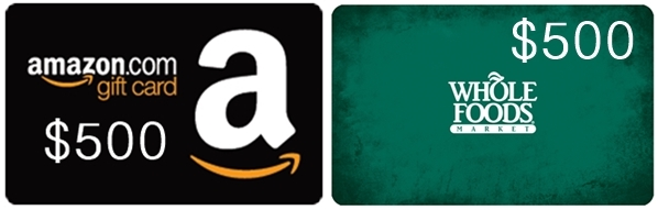 Win a $500 Amazon or Whole Foods Gift Card