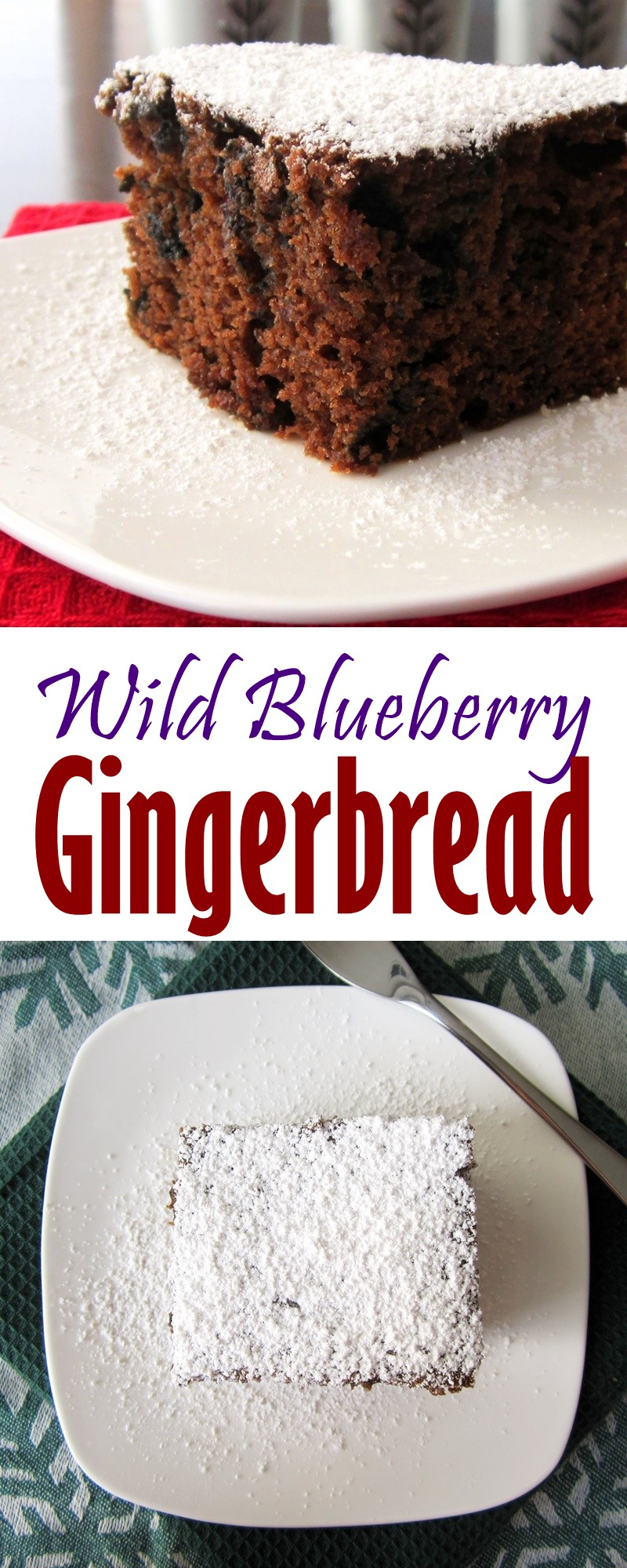 Wild Blueberry Gingerbread Recipe (dairy-free)