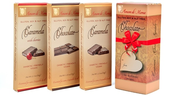 Dairy-Free Christmas Chocolate Gifts - Amore di Mona Chocolate Bars