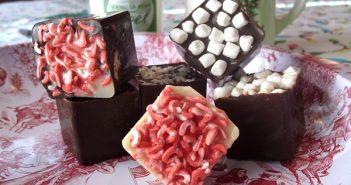 Dairy-Free Hot Chocolate Cubes Recipe - White and Dark