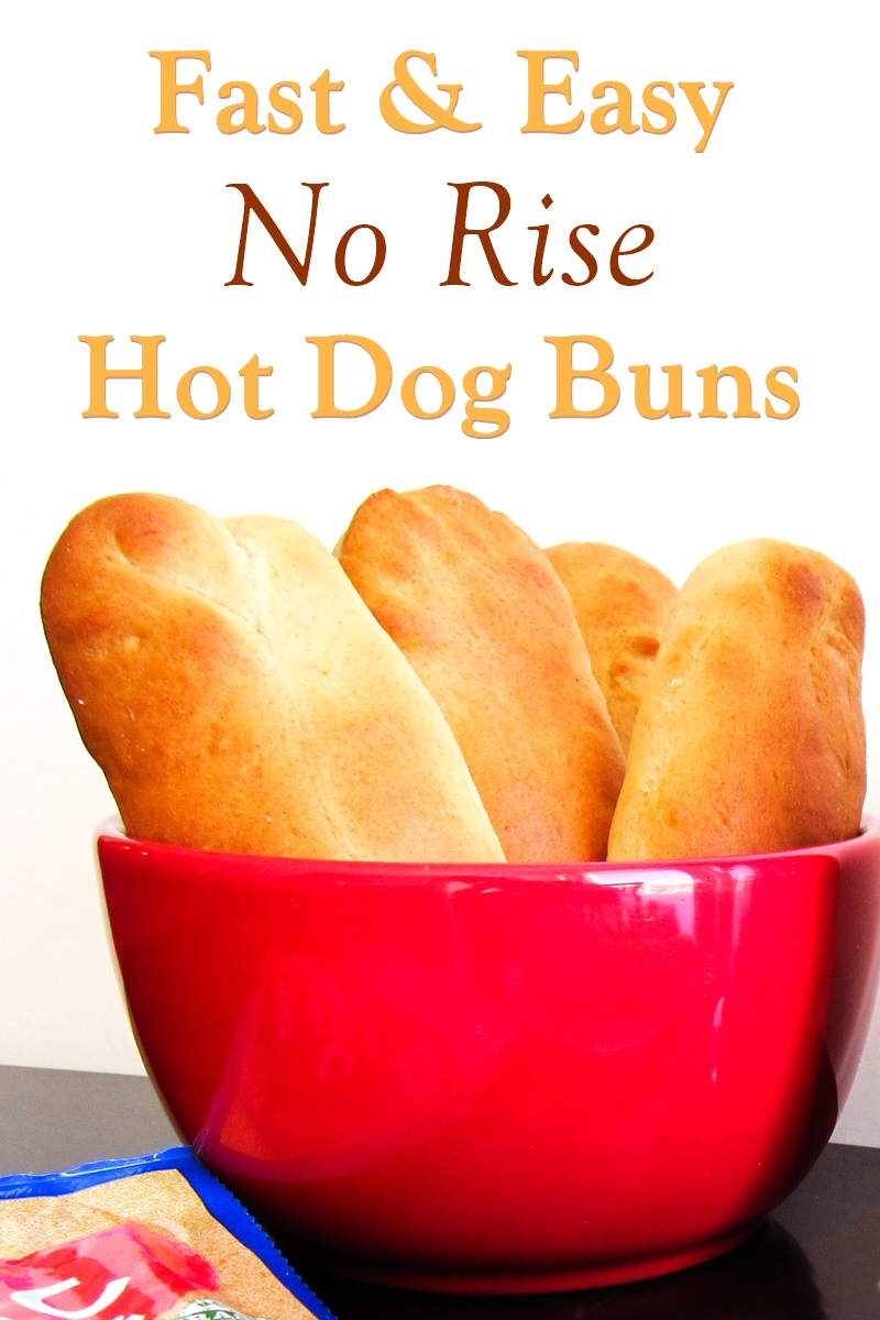 40-Minute Homemade Hot Dog Buns Recipe - from start to finish! No rising time needed. Naturally dairy-free with egg-free and vegan options. Fast, easy, and delicious!