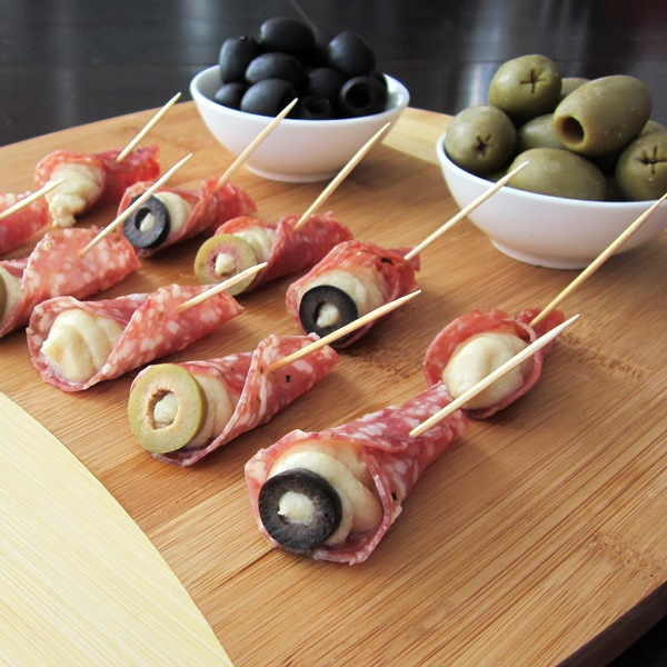 Salami Cones - Dairy-Free Cream Cheese Appetizers