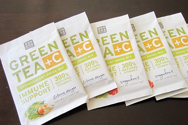 Sencha Naturals Green Tea + C Effervescent Drink Mixes