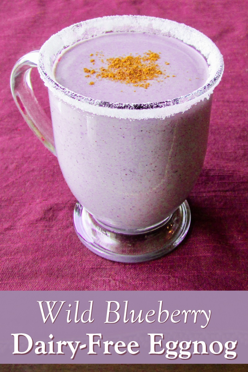 Wild Blueberry Egg Nog - dairy-free and deliciously rich. Recipe includes an egg-free and vegan option (fully tested!)