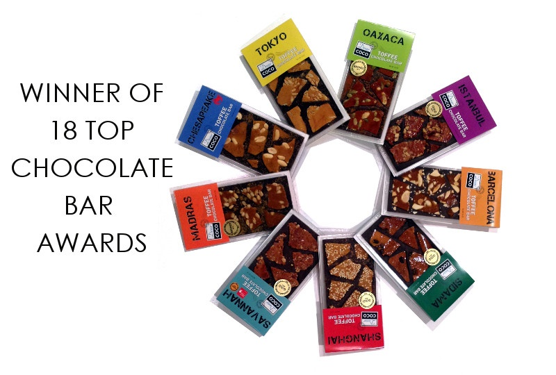 Top Dairy-Free Chocolate Gifts for the Holidays! Pictured: Dear Coco Toffee Bars