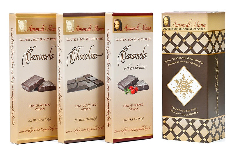 Top Dairy-Free Chocolate Gifts for the Holidays! Pictured: Amore di Mona Chocolate Collections (low-glycemic)