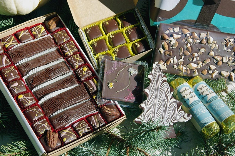 Top Dairy-Free Chocolate Gifts for the Holidays! Pictured: Lagusta's Luscious Vegan Winter Solstice Gift