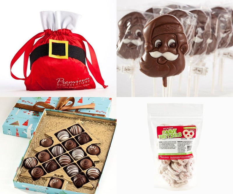Top Dairy-Free Chocolate Gifts for the Holidays! Pictured: Premium Chocolatiers (just a sample of their holiday assortment)