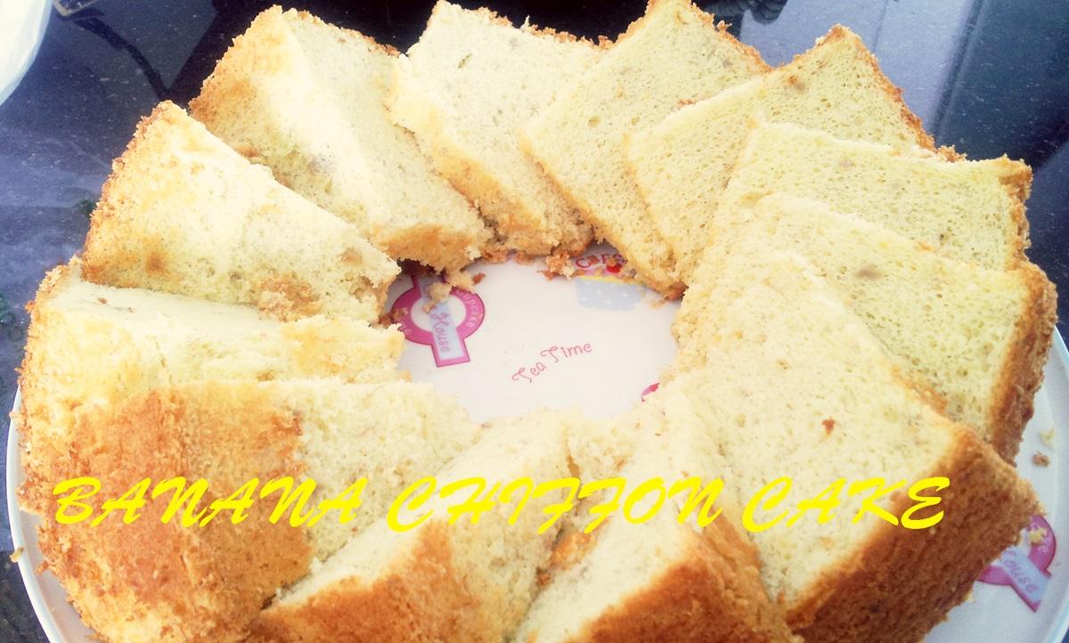 Banana Chiffon Cake Recipe (Dairy-free)
